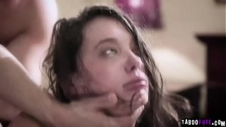 Teen is close to crying while she gets brutally double penetrated!
